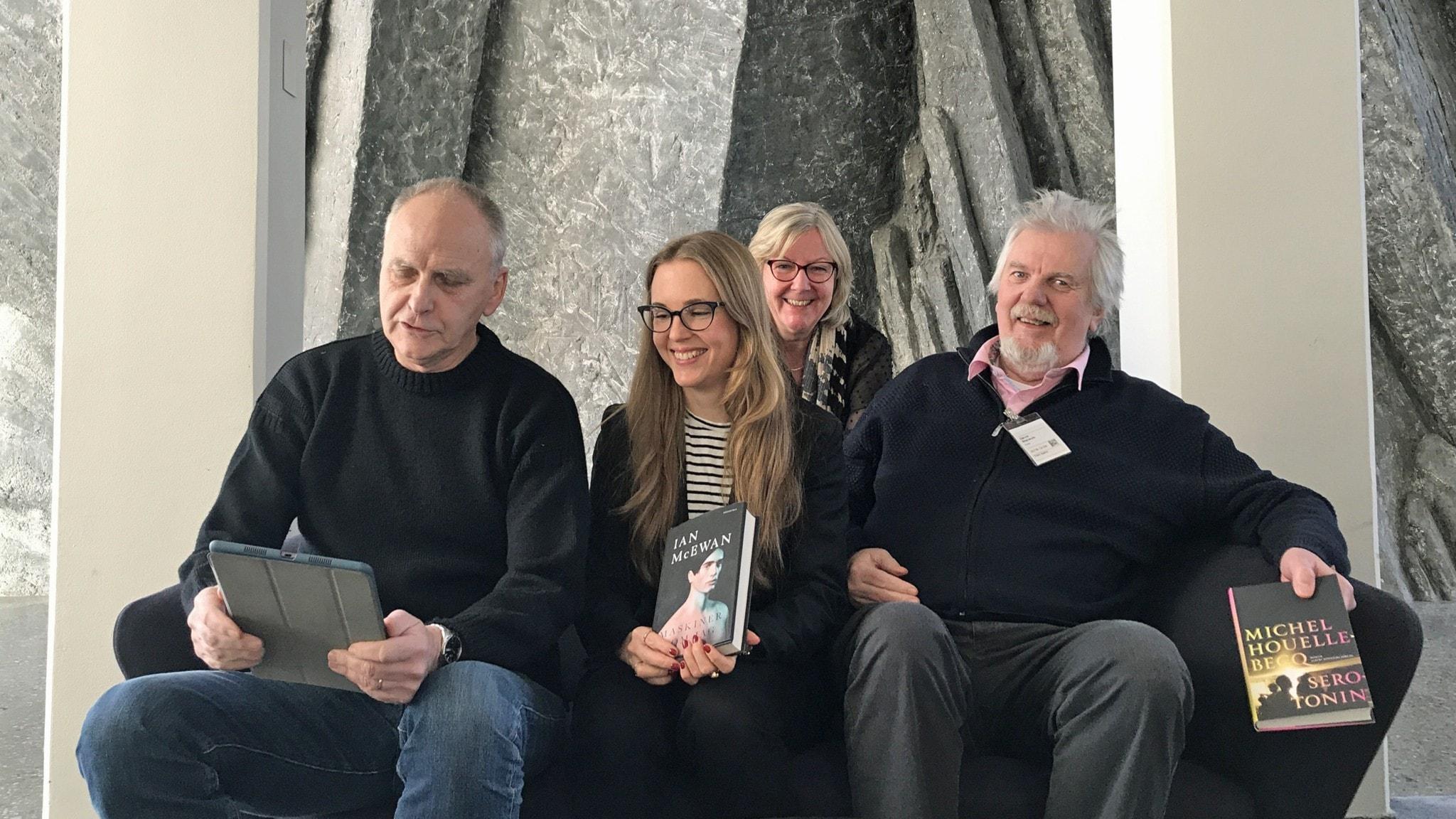 Filosofiska rummets bokprat med Staffan Carlshamre, Martina Stenström, Tithi Hahn och David Stansvik.