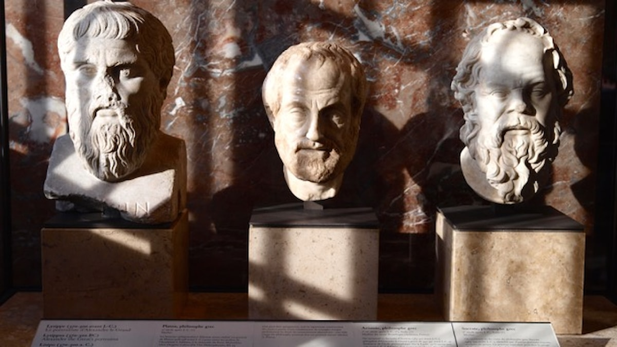 Platon, Aristoteles, Sokrates Bild Mararie, Flickr