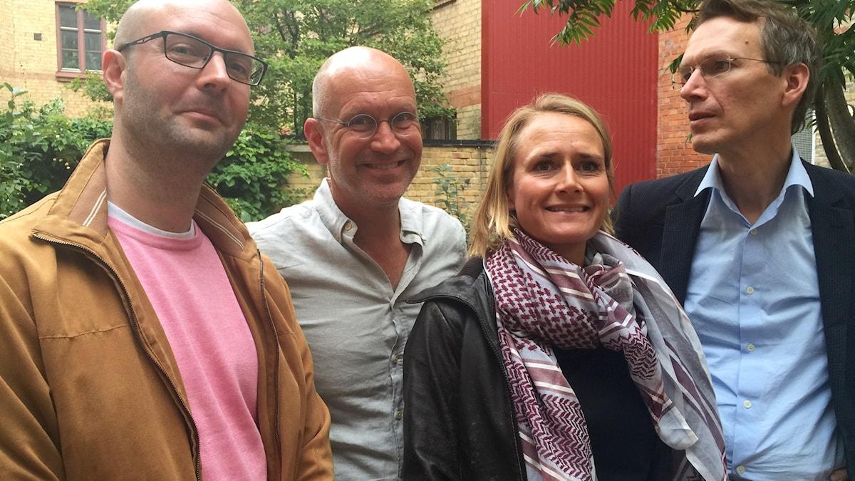 Jerker Karlsson, Lars Mogensen, Anna Lundberg och Gregor Noll Bild Thomas Lunderquist