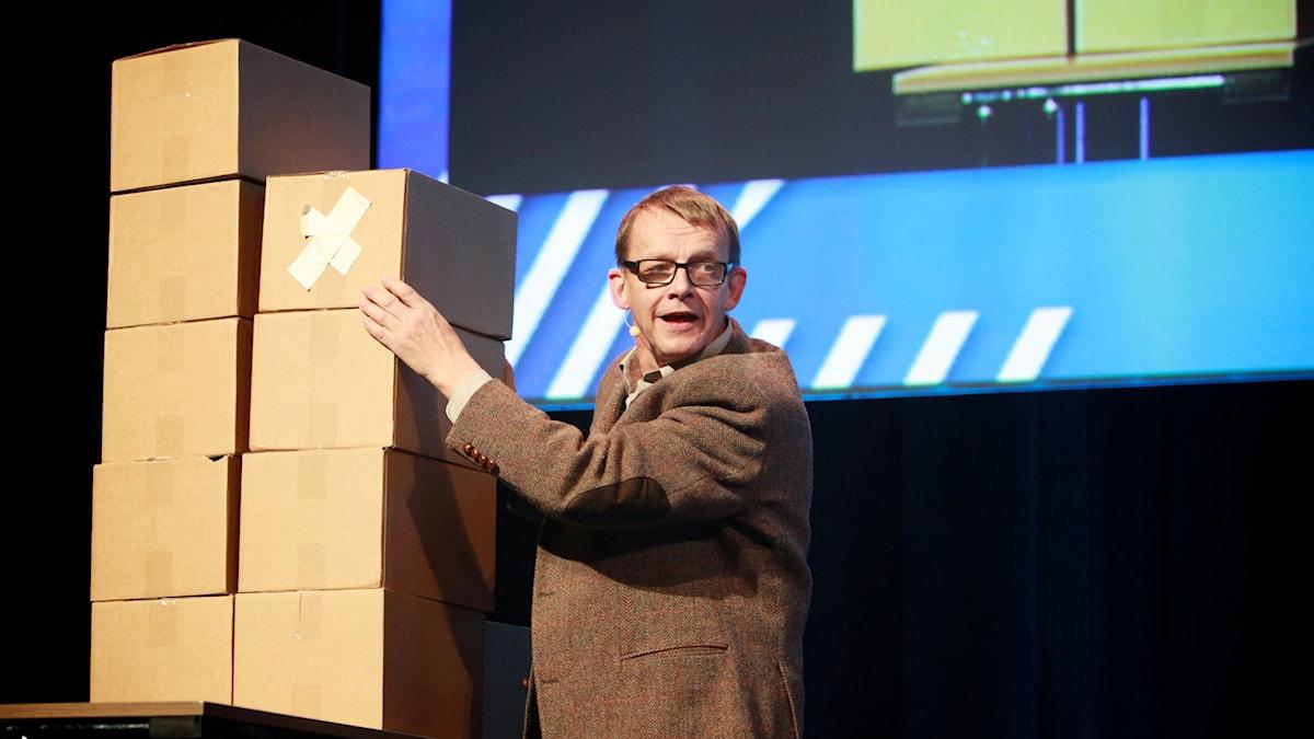Hans Rosling på Zero-konferensen i Norge 2012.