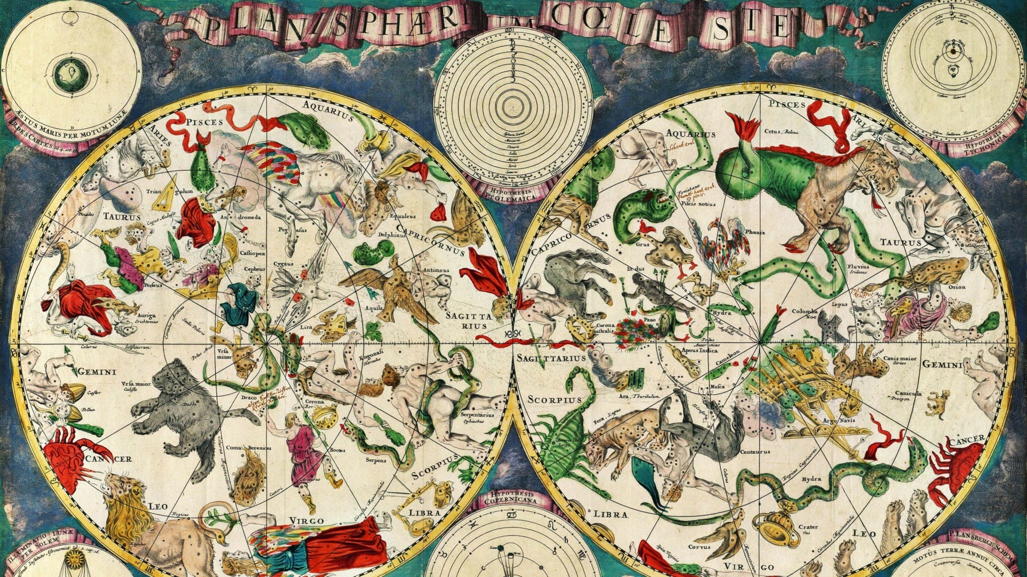 En holländsk stjärnkarta från 1670
