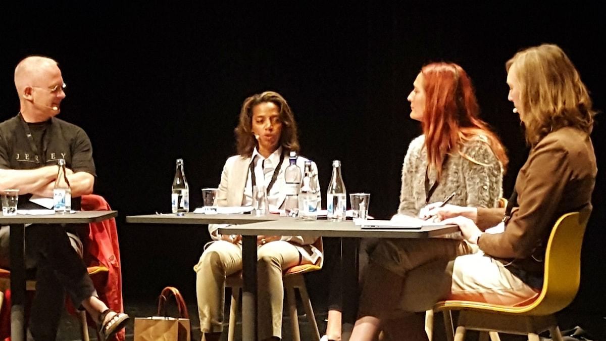 Peter Sandberg, Rahel Belatchew, Sarah Degerhammar och Jonna Bornemark.