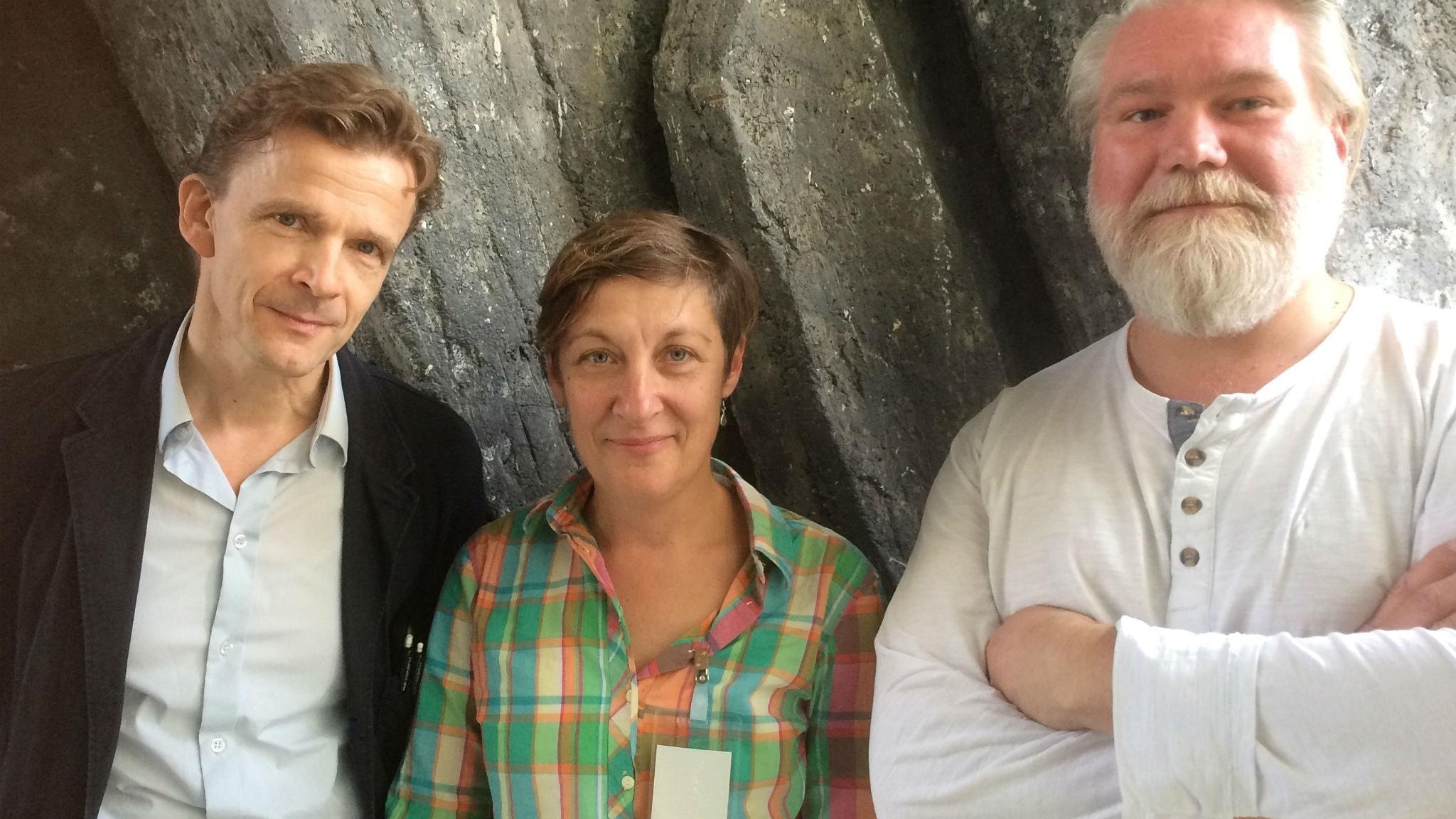 Hans Ruin, Lotten Gustafsson och Johan Redin.
