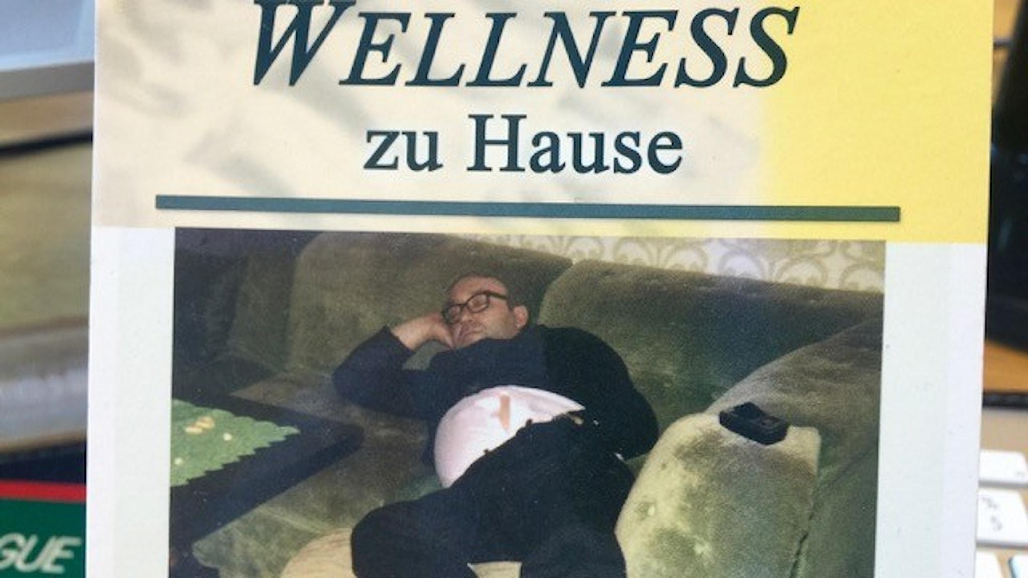 Wellness hemma. Tyskt vykort på Filosofiska rummets redaktion.
