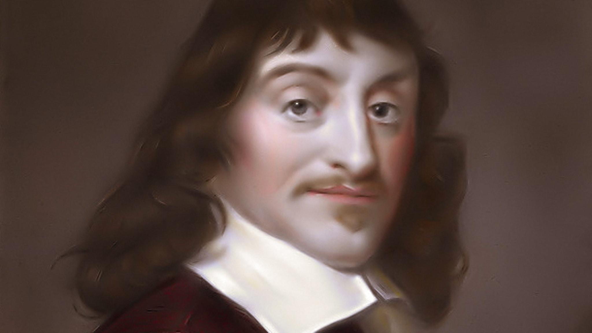 Porträtt av René Descartes.
