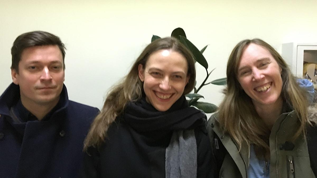Gustav Strandberg, Anna-Karin Selberg och Jonna Bornemark.