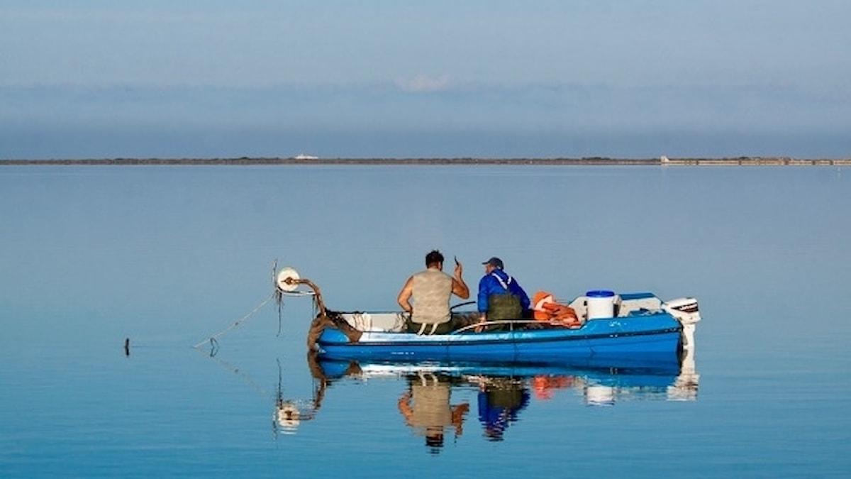 Bra miljö för att filosofera? Fiske i Stagnone-lagunen, Sicilien.
