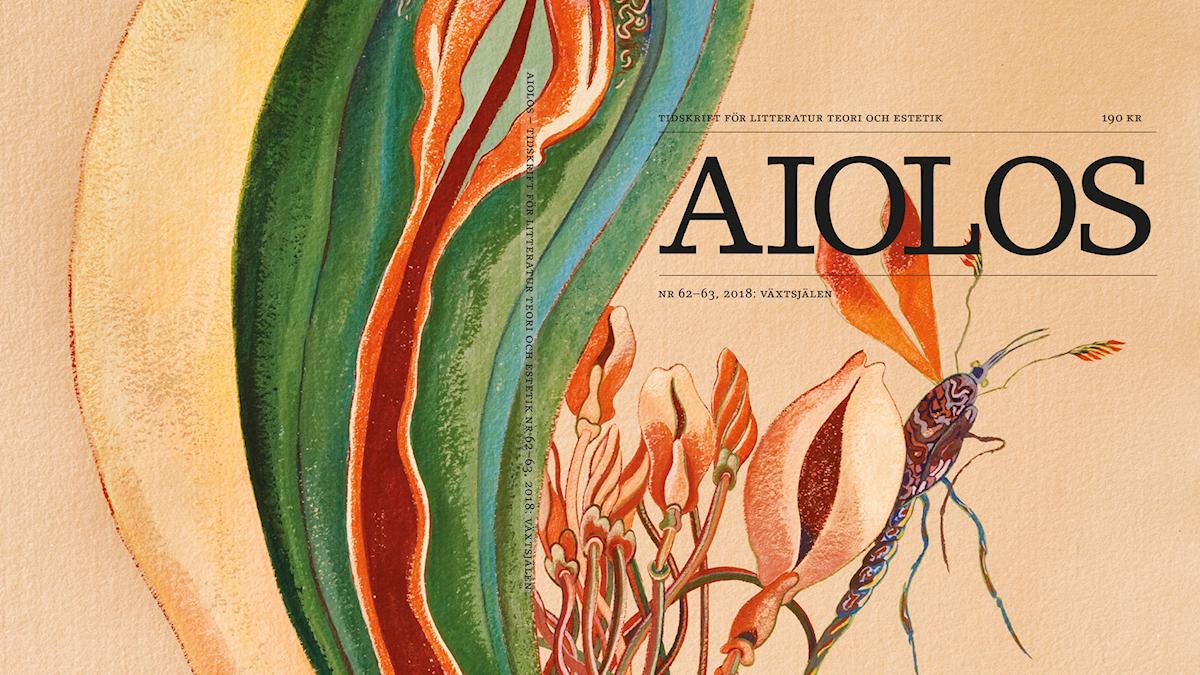 """""""Caught in the thick of it"""" (2010) av Rikki Ducornet  pryder omslaget på tidskriften Aiolos senaste nummer, med tema """"Växtsjälen""""."""