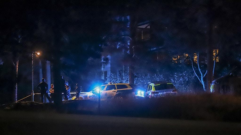 polisarbete efter skottlossning