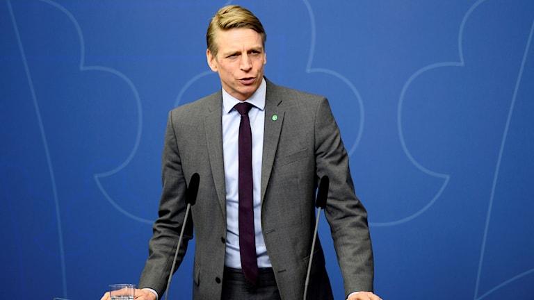 Finansmarknads- och konsumentminister Per Bolund (MP)
