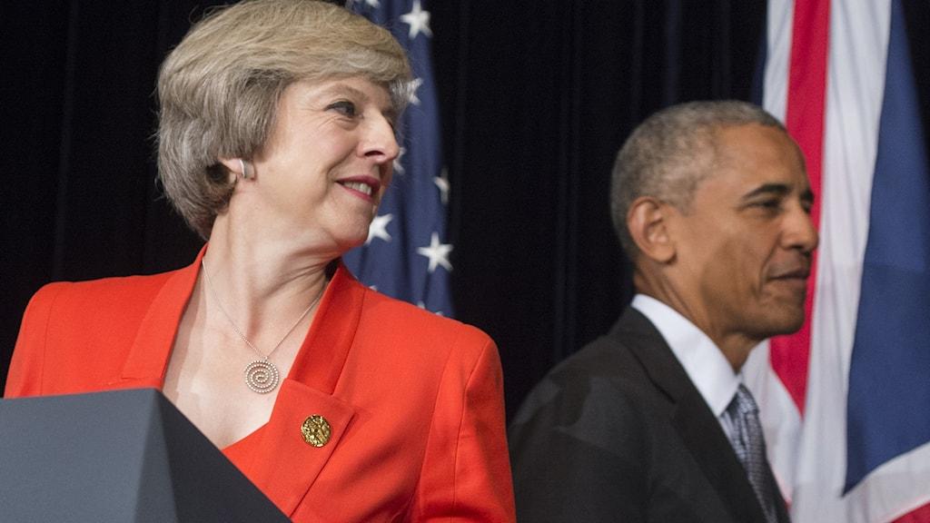 Barack Obama och Theresa May