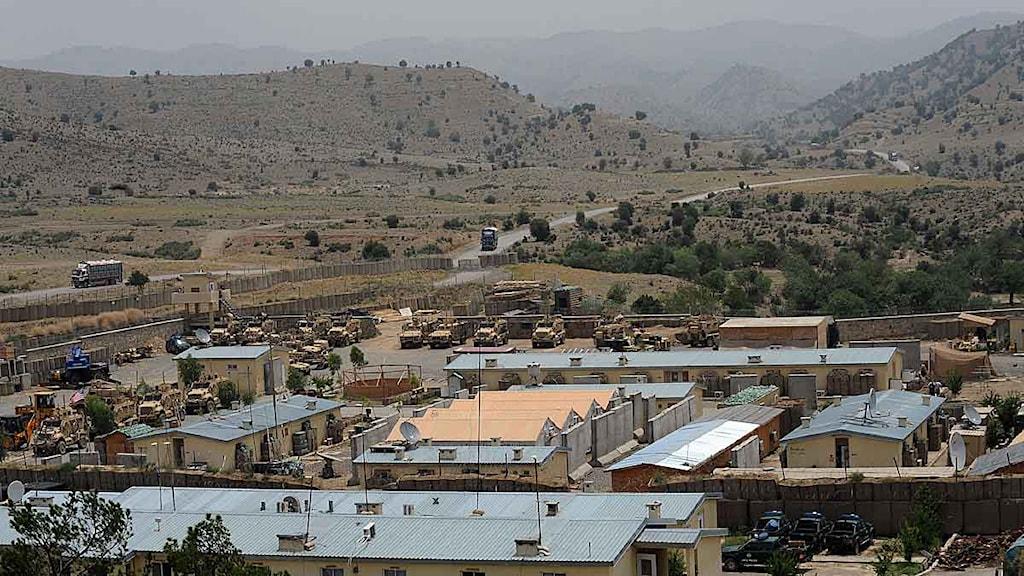 USA:s anläggning Bowri Tana i östra Afghanistan. Foto: Ted Aljibe/Scanpix.