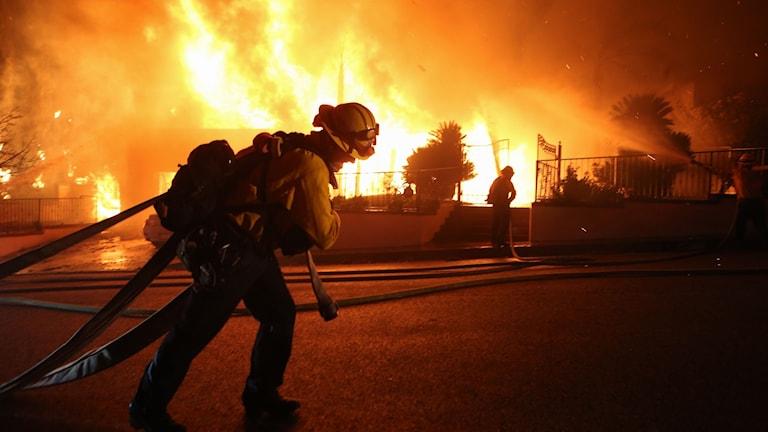 Bränder i Porter Ranch, Kalifornien.