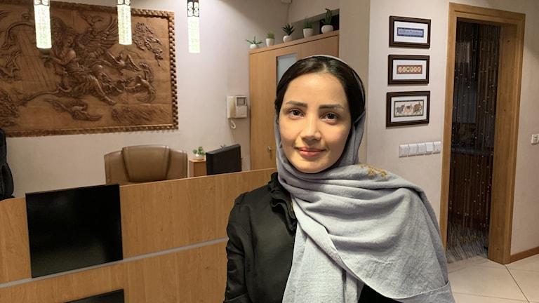 Forskningschefen på medicinturistföretaget i Iran, Sara Saberi på Iran health tourism organizer