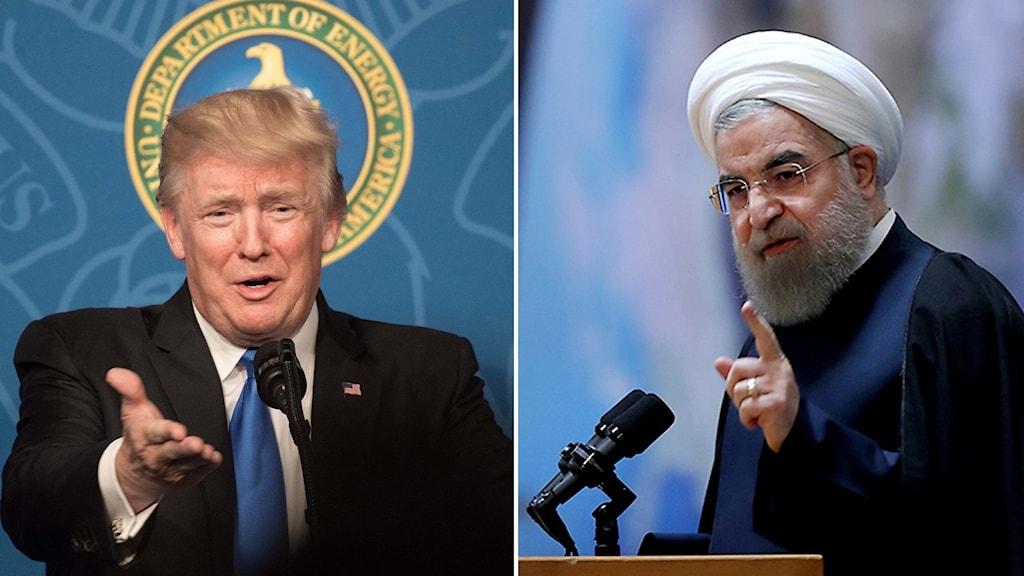 Irans president Hassan Rouhani anklagar Donald Trump för att själv bryta mot kärnvapenavtalet.