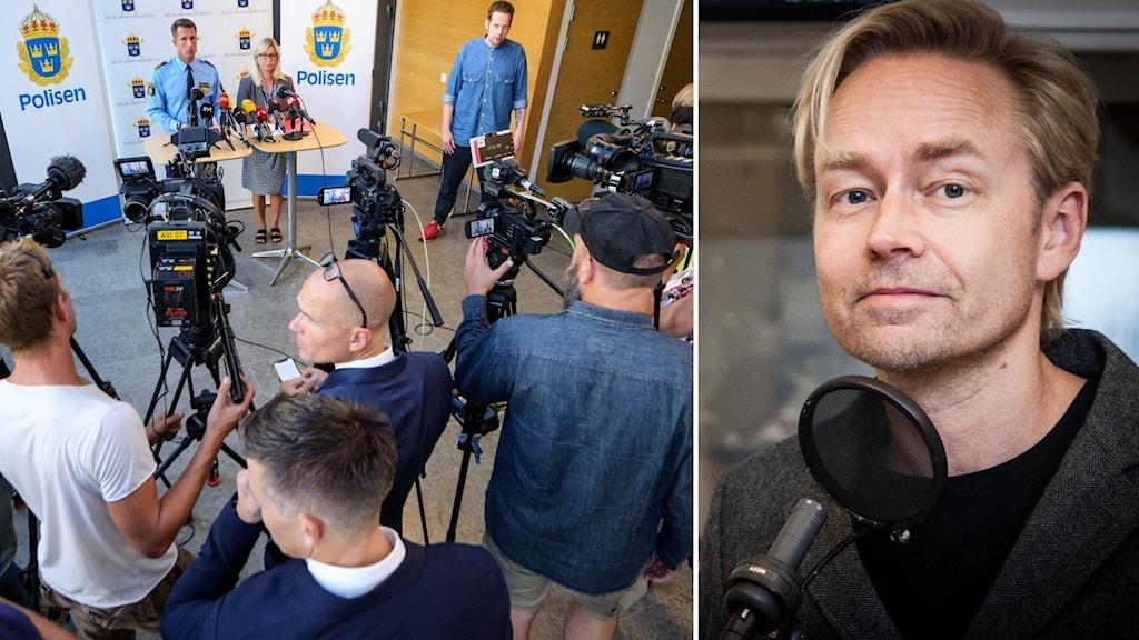 Pressträff efter sommarens omtalade dödsskjutning i stadsdelen Ribersborg i Malmö.