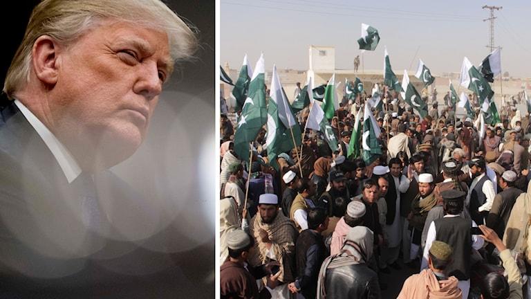 Donald Trumps besked har lett till protester i Pakistan.