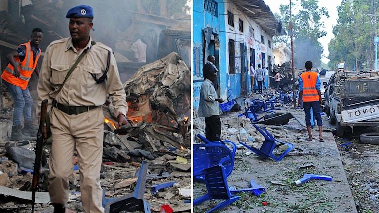 Bombdåd i Somalias huvudstad.