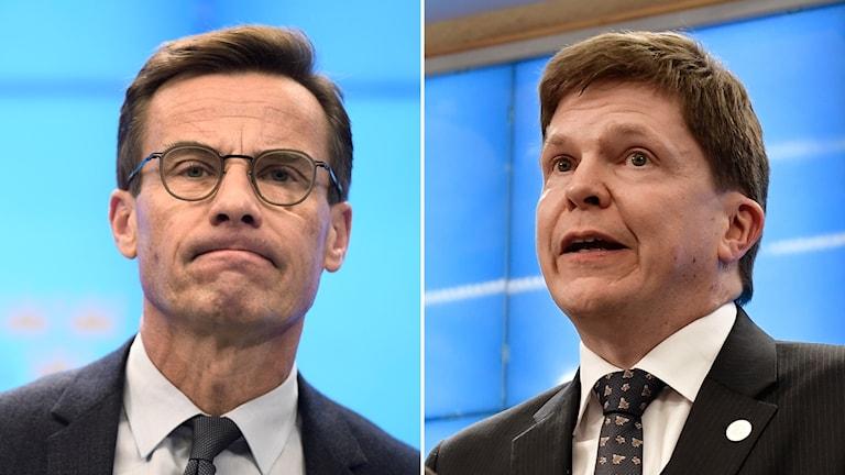 Ulf Kristersson (M) och talmannen Andreas Norlén.