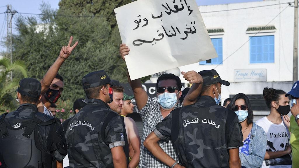 demonstartion i tunisien.