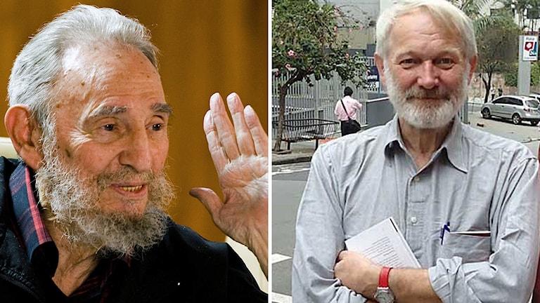Lars Palmgren och Fidel Castro