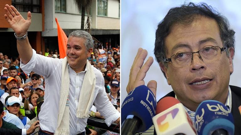 Ivan Duque och Gustavo Petro.