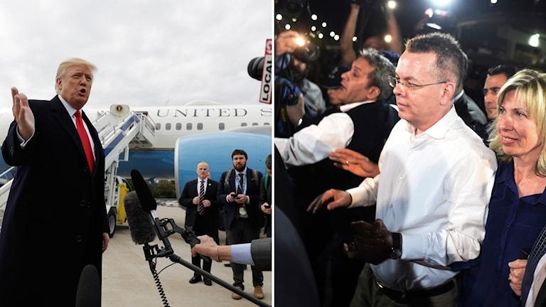 Pastor Brunson på väg tillbaka till USA – ska möta Trump