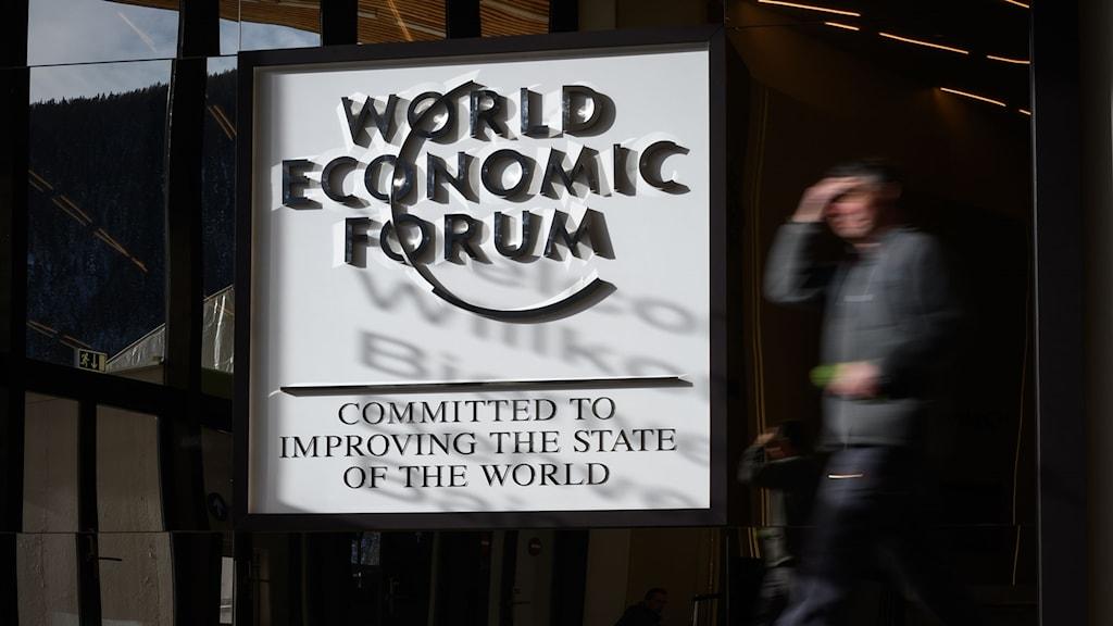 IMF:s prognos presenterades under Världsekonomiskt Forum som inleddes i Davos i dag.