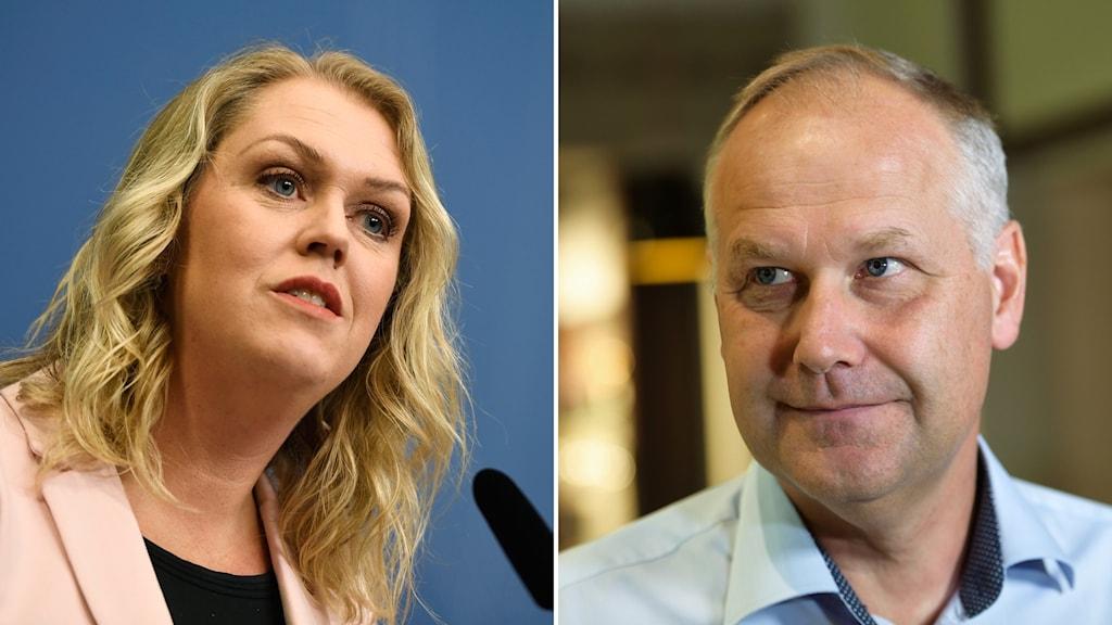 Jonas Sjöstedt och Lena Hallengren