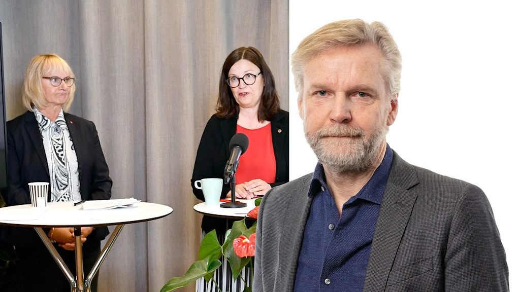Civilminister Lena Micko (S) och Utbildningsminister Anna Ekström (S) och Ekots Tomas Ramberg.