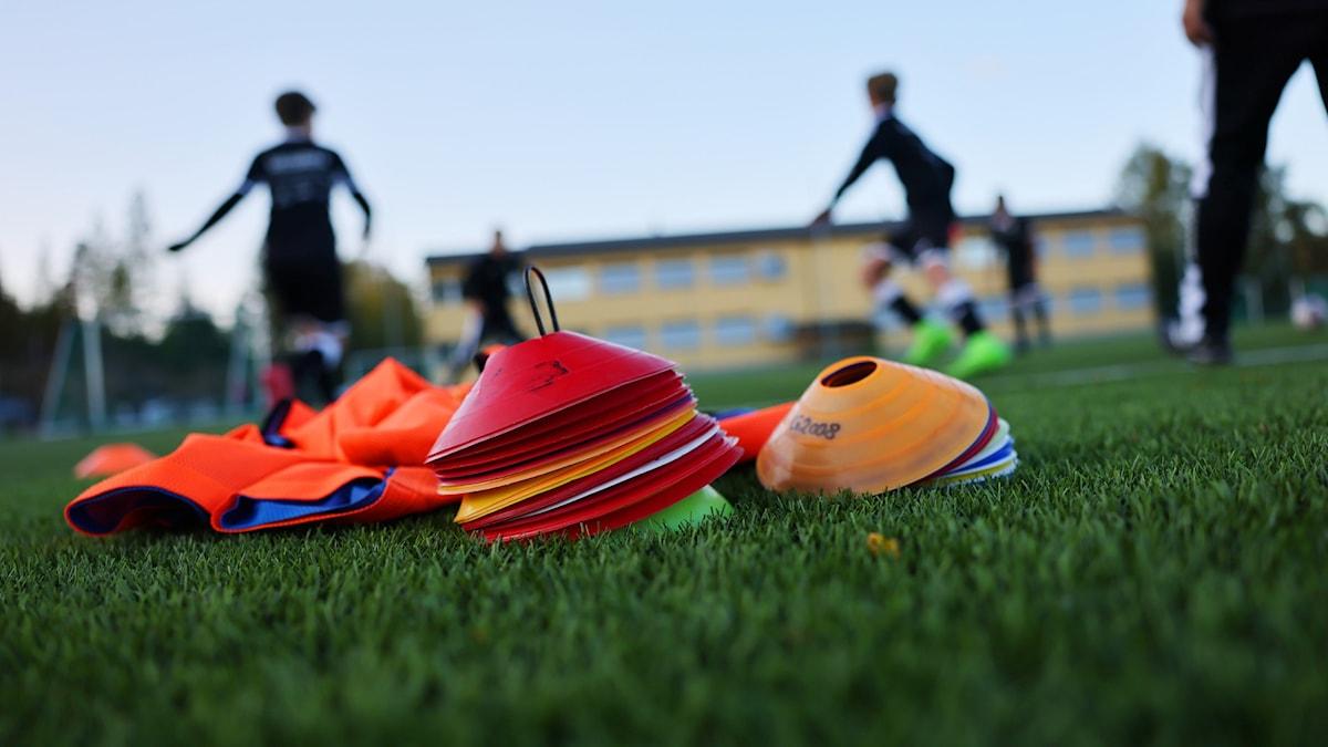 Fotbollsträning.