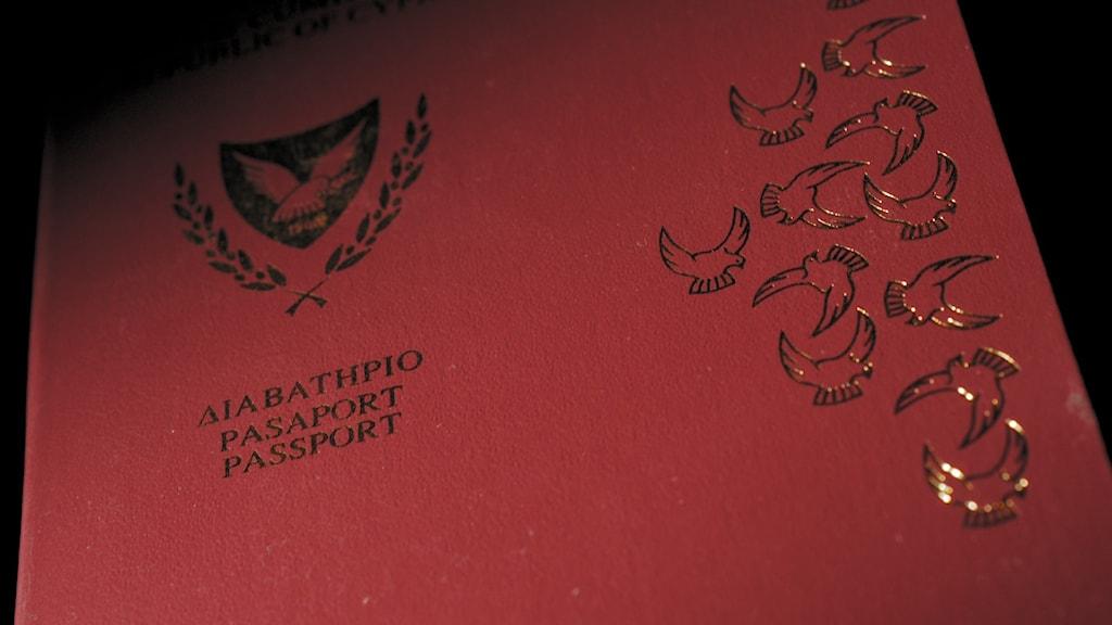 Ett cypriotiskt pass.