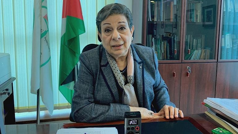 Hanan Ashrawi.