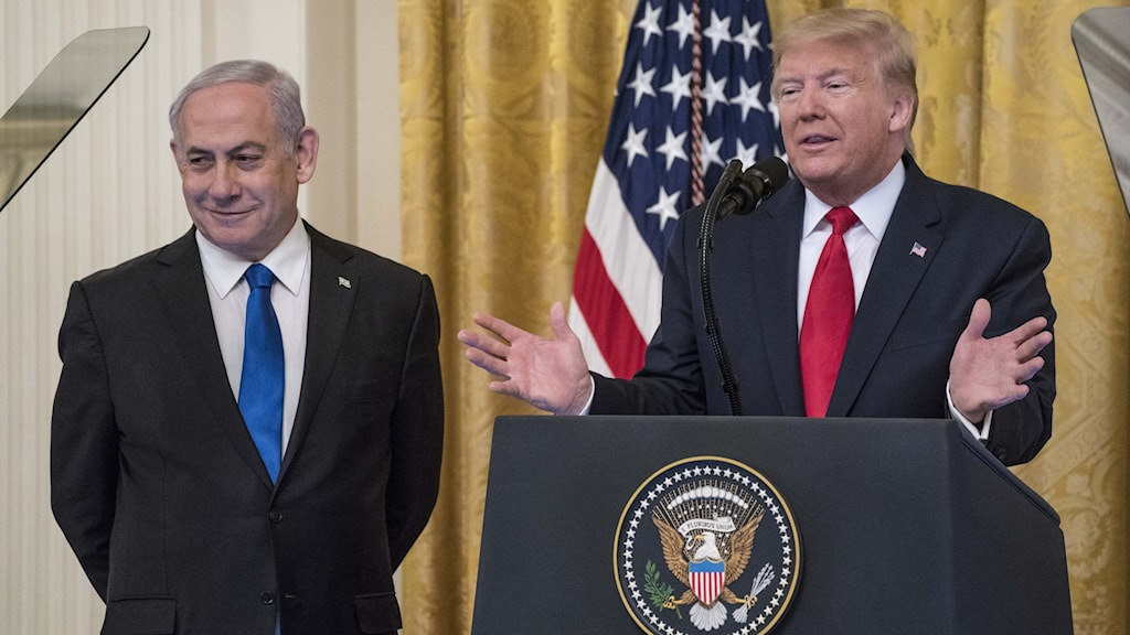 Trump och Benjamin Netanyahu