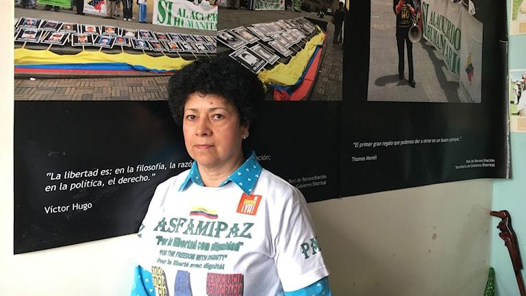 Marleny Orjuela som är ett av offren för Farc-gerillan