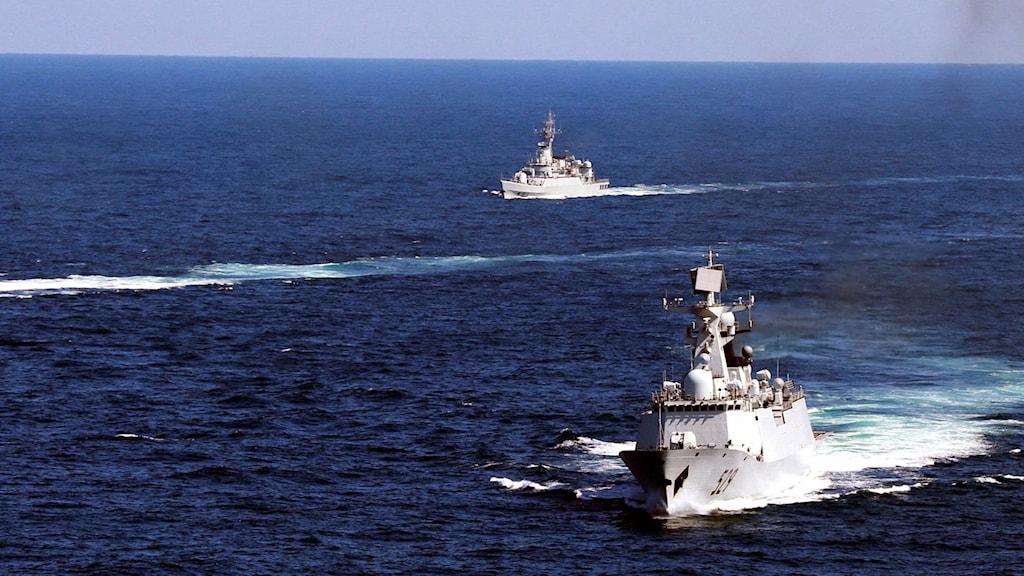 Kinesiskt marinfartyg. Arkivbild.