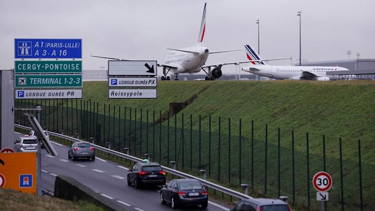 Flygplatsen Charles de Gaulle i Paris.