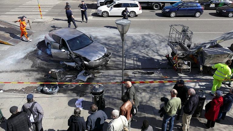 Bilolycka i Stockholm. Arkivbild från april 2016.