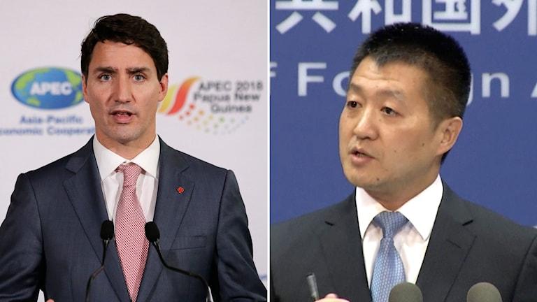 Justin Trudeau och Lu Kang