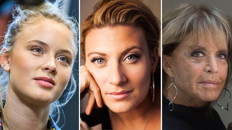 Zara Larsson, Sarah Dawn Finer och Lill-Babs.