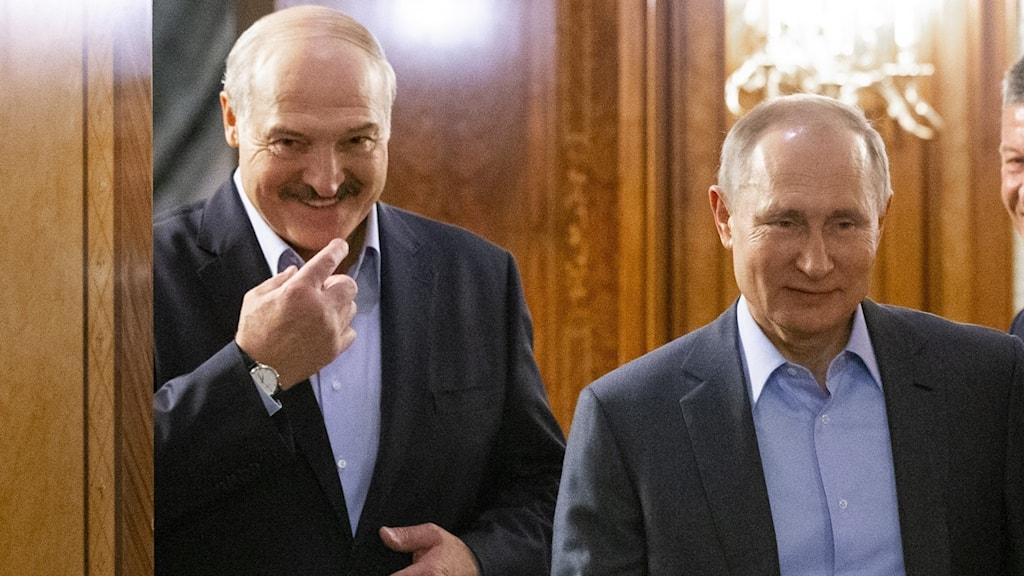Aleksandr Lukasjenko och Vladimir Putin.