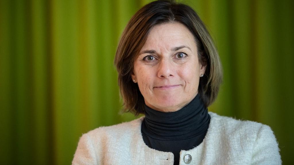 Isabella Lövin är emot om att Arlanda behöver byggas ut