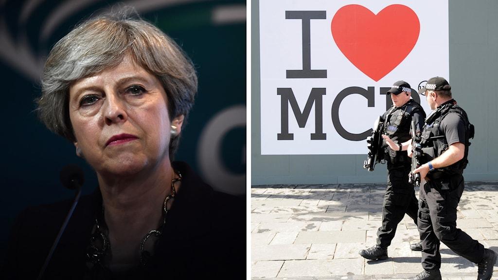 Theresa May terrorhotnivå