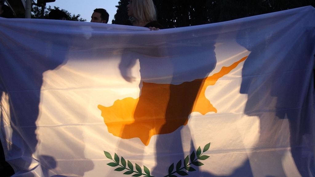 Cypern flagga.