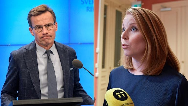 Ulf Kristersson, partiledare Moderaterna och Annie Lööf, partiledare Centerpartiet.