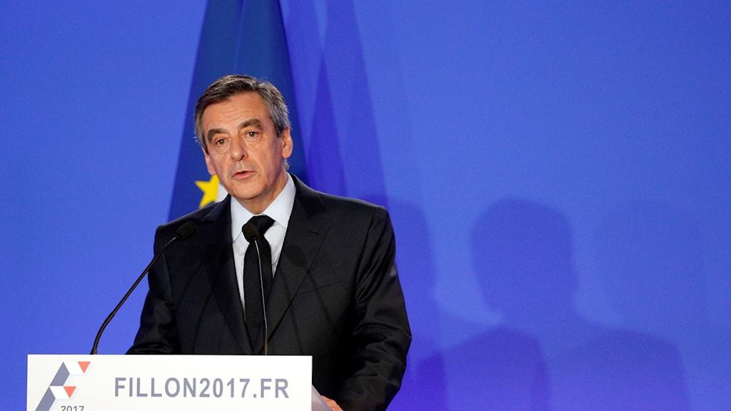 Högerpartiets kandidat i franska presidentvalet François Fillon.