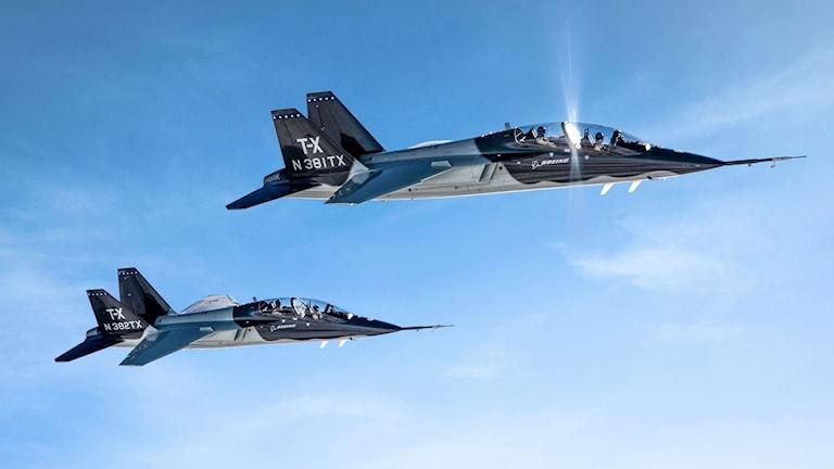 Boeing har ett samarbete med svenska Saab och de har tillsammans utvecklat den vinnande modellen Boeing T-X.