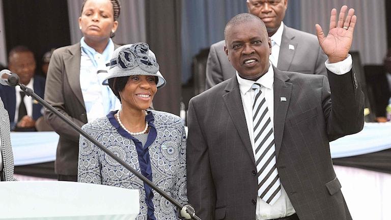 Mokgweetsi Masisi och hans fru Neo Masisi