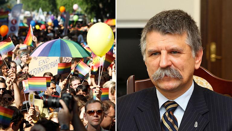 Pridetåg i ungern och László Kövér