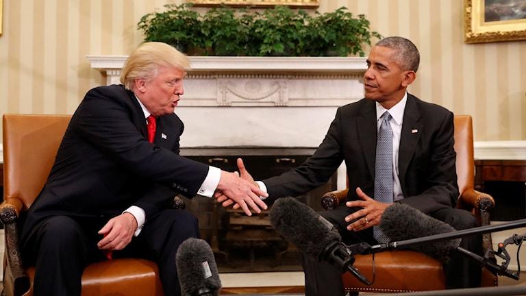 Barack Obama och Donald Trump